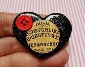 Ouija Board - Polymer Clay Glitter Brooch or Necklace!