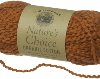 Organic Cotton Yarn Lion Brand Natures Choice Autumn Color Orange Spice Fall Color