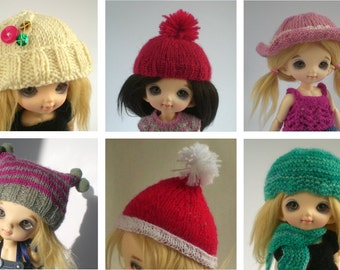 CUSTOM Handknitted Hat for Pukifee/Lati Yellow or other Tiny BJD