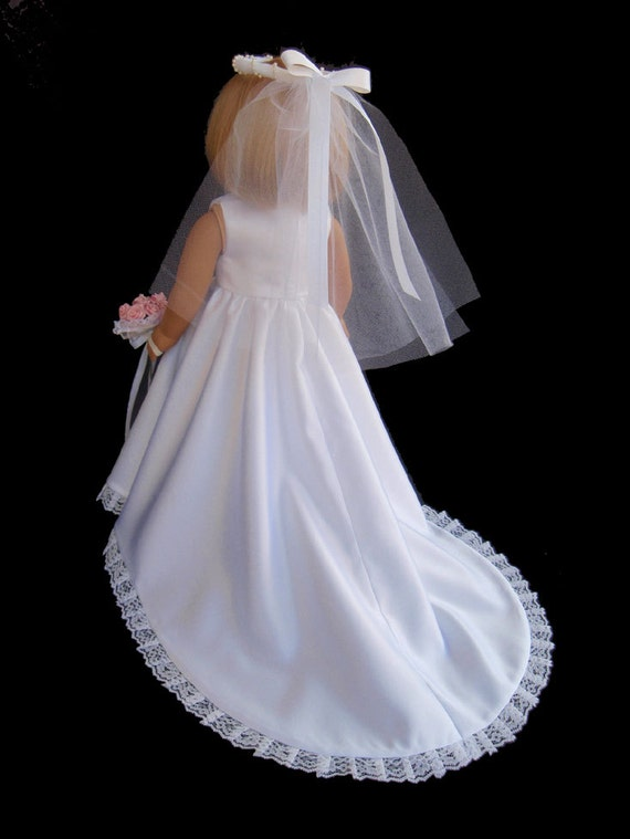 American girl doll clothes princess wedding gown dress for American girl wedding dress
