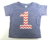 Choose one Biggie Number 1st Birthday Shirt with Orange one Chevron Birthday T Shirt  triblend grey Birthday Shirt Pumpkin Fall Farm Patch