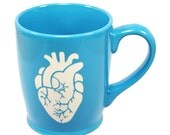 Anatomical Heart Mug - Sky Blue - anatomically correct coffee cup