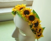 Ring of Mini Sunflowers Headband