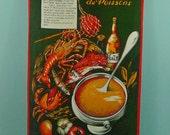 Vintage theedoek Frankrijk
