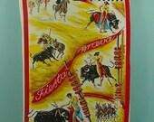 vintage spanish tea towel,