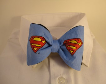 Blue Superman Shield Bow Tie