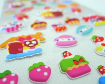 Cute Puffy Japanese Sticker - Sweet and Sweet - my house is made from sweets (1285) by Mind Wave Inc.