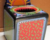 Handpainted Boutique Tissue Box