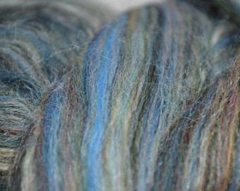 Merino and Tussah Silk, merino, silk blend,roving, McKenzie,threadsthrutime