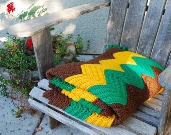 Vintage Afghan Blanket Throw