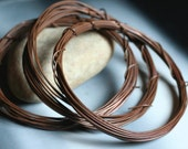 Hand antiqued solid copper wire 20g thick, 10 ft (item ID ACW20G)