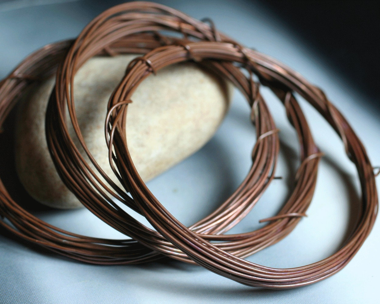 Copper Wire Identification : Hand antiqued solid copper wire g thick ft item id