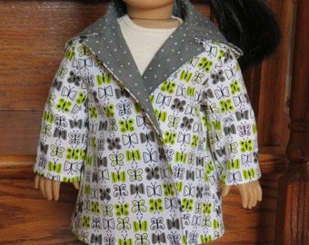 Scribbled Butterfly Coat for American Girl / 18 inch dolls