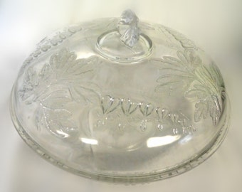 Eapg early american pattern glass King & Son Non flint BLEEDING HEART covered bowl 91/4 inch 1875