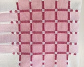 Vintage Tablecloth Pink Plaid Cotton Niagara Textile Co. Cottage Linens 40 x 42 Easter Table Setting