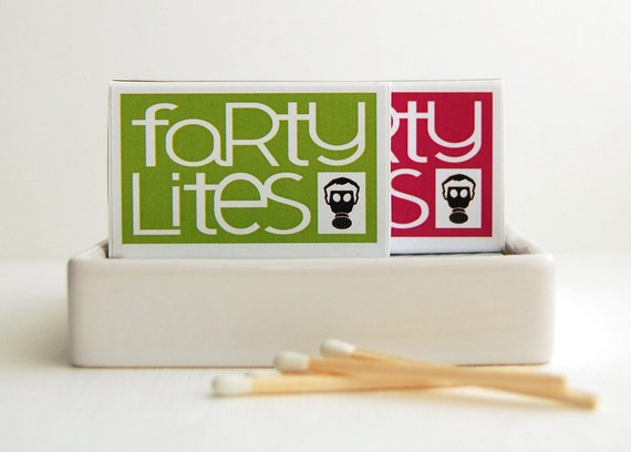ON SALE novelty gift matchboxes for farting friends -- Farty Lites classic edition