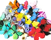 40 X-LARGE Paper Butterflies for DIY weddings, diy baby showers, diy school kit, cupcake toppers, butterfly photo props, #oldtimeetsyteam