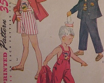 1952 Simplicity Pattern 4059 Child size 2