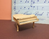 Free Shipping Lovely vintage metal Doll House miniature grand piano lifting lids moveable parts