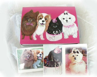 Electronic Device Case Nook Ipad  Kindle Cover Hand Painted Dog Breed