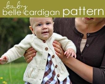 Baby Belle Cardigan PDF PATTERN - (1-3, 3-6, 6-12, 12-18, 18-24 months)