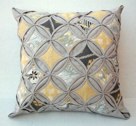 45 Off Decorative Pillow Cover Cathedral Window Quilt Modern