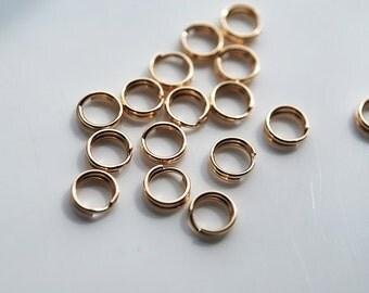 14kt  Yellow Gold Filled Split Rings, 4.9MM, PK10