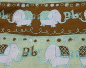 Elephant on Parade Baby Blanket