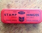 Red Stamp Hinge Tin