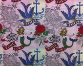 True Love Mermaid Cotton Fabric