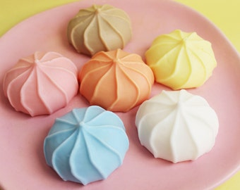 Meringue Cookie Soap Complete Set - Dessert Soap, Candy Soap, Soap Favors, Ice Cream Soap, Fake Food Soap, Party Favors, Cotton Candy Soap