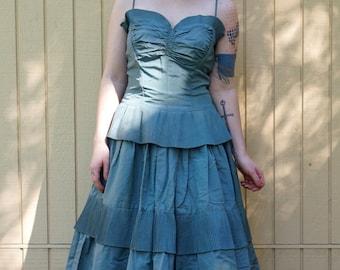 Beautiful Taffeta  40s 50s party dress/ Mad Men style/ Retro