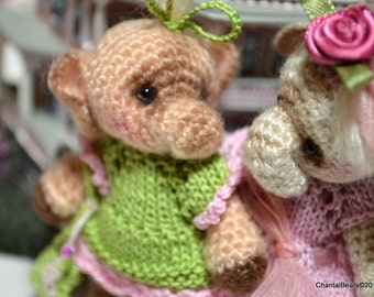 """4"""" Thread Crochet Elephant pattern and clothes patterns"""