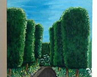 Garden Path Oil Painting