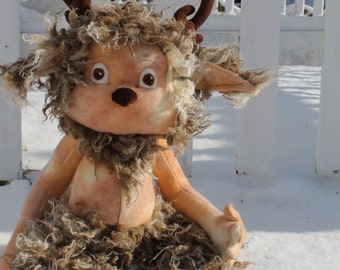 New for January 2014, Grizzle the Faun PDF, digital download Sewing Pattern