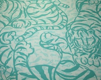 """Lilly Pulitzer fabric """"TIGER CATFISH""""  2000, 100% cotton . 18 """" by 18"""""""