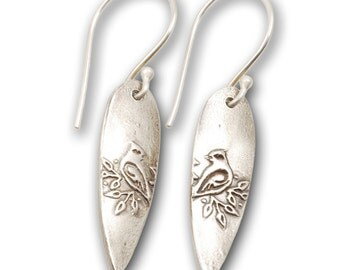 Cardinal Earrings - Hypoallergenic Sterling Silver Bird Earrings