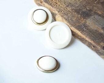 DOLLAR DAZE Earrings, Pierced Earrings, Large White Earrings, Vintage Earrings-- Broken, Etsy, Etsy Jewelry