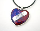 CHD Necklace, Awareness, Congenital Heart, Heart Defects, CHD Jewelry, Broken Heart Gift, Bandaid Necklace, Mended Heart Jewelry