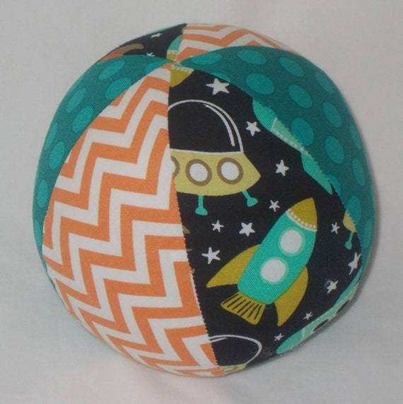 Space station fabric ball rattle for Space station fabric