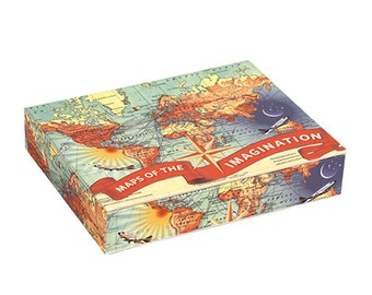 Maps Of The Imagination, Map Notecards in Keepsake Box