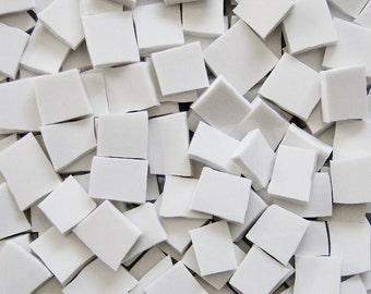 Mosaic Tiles--White--100 Tiles