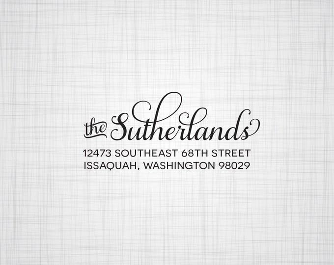 Simple Script Personalized Return Address Stamp, Wedding Return Address Stamp, Custom Address Stamp, Self Inking Stamp, Rubber Stamper