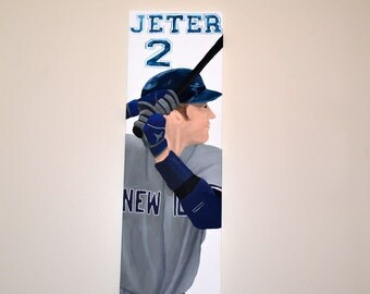 New York Yankees Captain Derek Jeter Original Painting