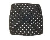 Black Crocheted Square Dish Cloth
