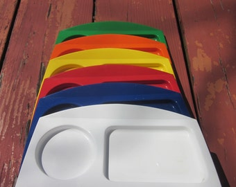 Six Vintage Plastic Lunch Trays - 1960s Fremware