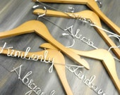 Bridal Party Gift Bridal Dress Hanger Wire Hangers Bridesmaid Hangers set of 5 Maid of Honor Hanger Wedding Dress Hangers Bridesmaid Gifts