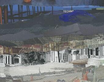 San Francisco Walking Tour - Abstract Art Collage