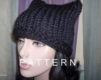 Crochet Hat PATTERN Hat Womens Mens Slouchy by BeeHappyBoutique