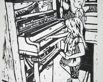 Summer Singing - Original Woodblock Print